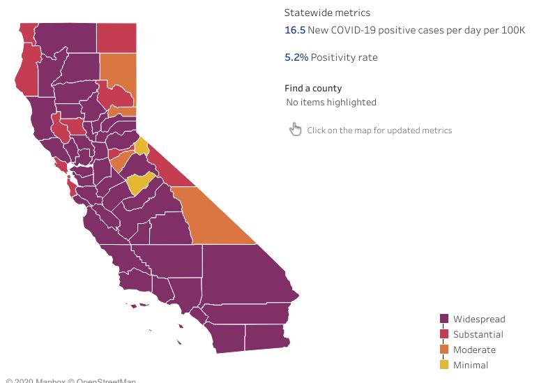 CA map covid 19 1