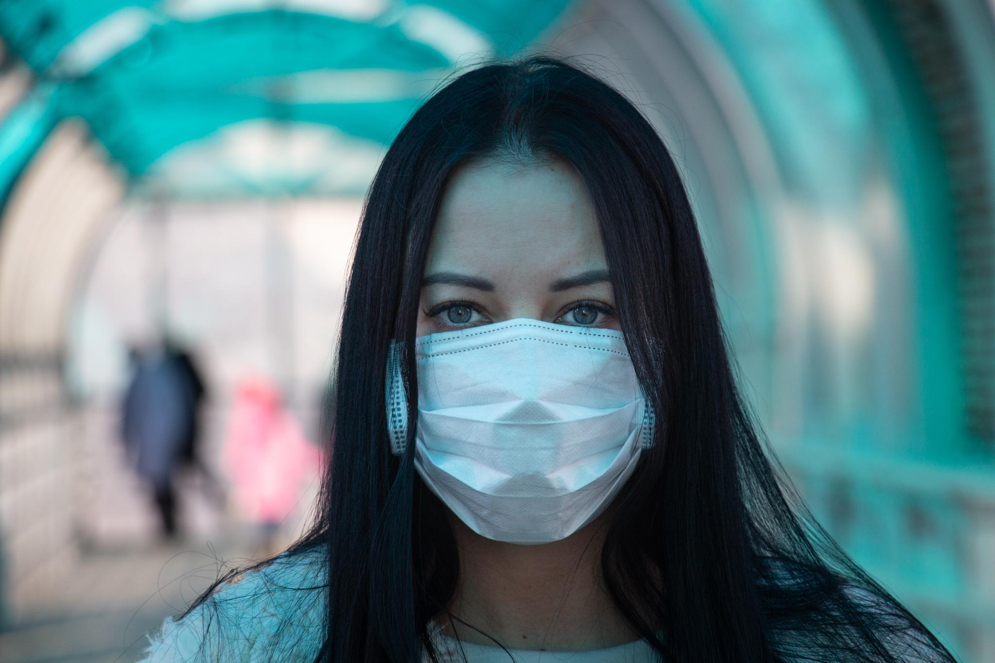 COVID 19 Coronavirus Girl in mask