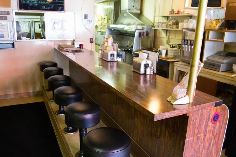 Six Stool Lunch Counter