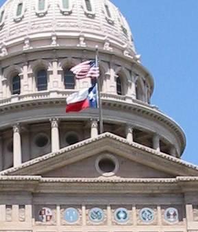 Texas Capitol Flags