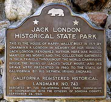 jack london_state_plaque