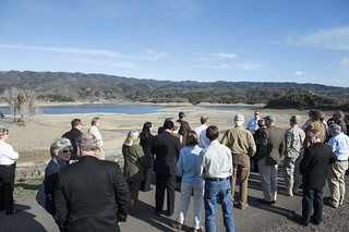 Standing on the dried out bed of what should be Lake Mendocino, Gov. Gavin Newsom declared a drought emergency for Mendocino and Sonoma counties April 21