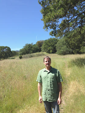 The Sonoma Land Trust's John McCaull shows off a corner of the unspoiled lands at the Developmental Center.