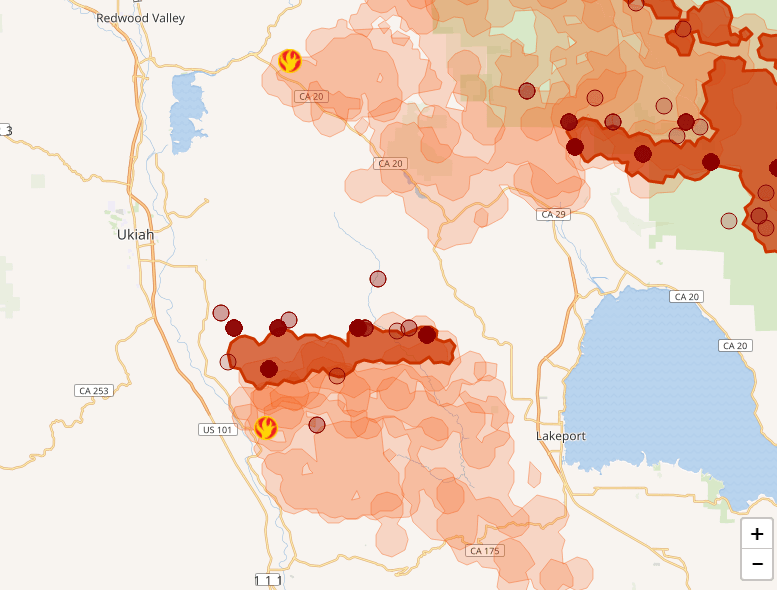 Rohnert Park Fire Map.Mendocino Fires Continue Burning We Talk With Cal Fire For The