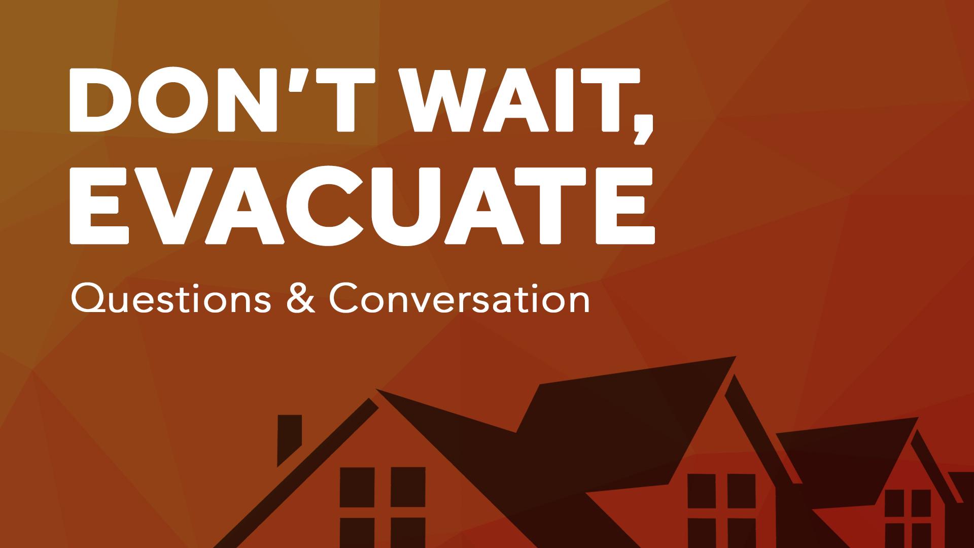 Dont Wait Evacuate Title Screen