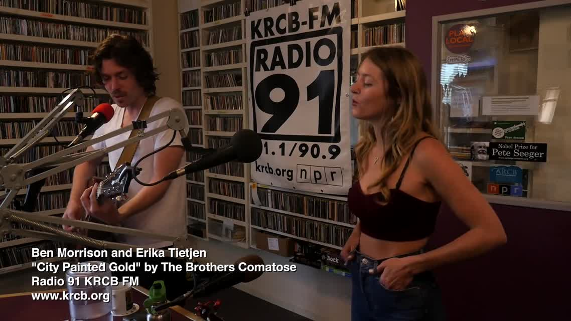 Ben Morrison & Erika Tietjen on Radio 91 KRCB FM - -City Painted Gold-