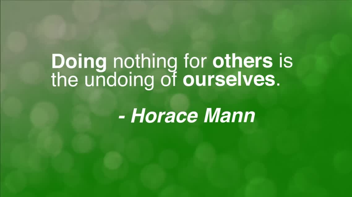 Doing nothing for others