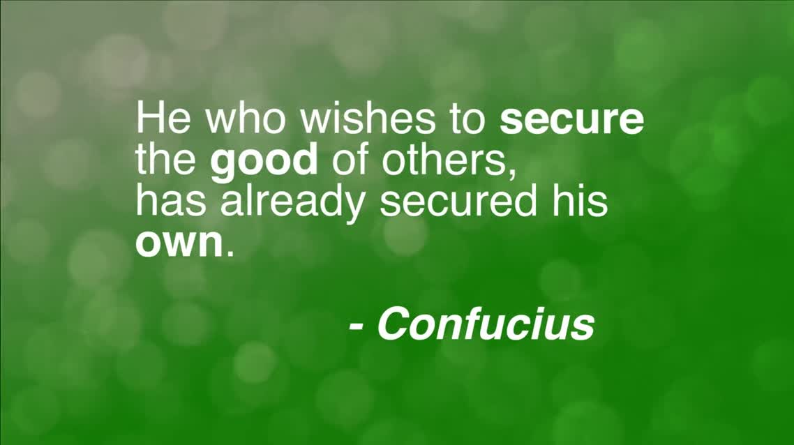 He who wishes to secure